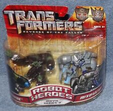 TRANSFORMERS ROBOT HEROES MOVIE SERIES 2 IRONHIDE & MIXMASTER SET