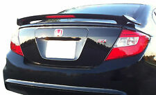 PAINTED REAR WING SPOILER FOR A HONDA CIVIC 4-DOOR 2-POST FACTORY  2012-2015