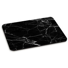 MARBLE BLACK WITH WHITE VEINED PC COMPUTER MOUSE MAT PAD - Stone Effect Pattern