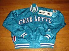 Worn Starter CHARLOTTE HORNETS Jacket Size Large Satin Vintage Original 90s B
