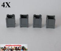4X Lego® 61780 Kiste Box Container neues Dunkelgrau Dark Bl. Gray NEU