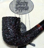 New & Unsmoked Geppetto by Ser Jacopo Bent Billiard Dark Plum - Gepetto Pipe