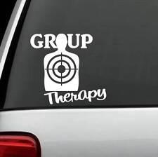 D1112 Group Therapy Target Decal Sticker Truck SUV Laptop Gun Assault Weapon 2A