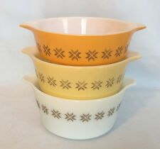 Pyrex Town & Country Casserole Dishes Set Of 3 Piece 471 472 473 VTG Pint Quart