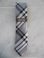 KENNETH COLE REACTION MEN'S TIE BLACK GREY SILVER 100% SILK BRAND NEW WITH TAGS