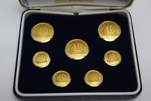 Brooks Brothers Set Of 7 Gold Toned Ship Buttons !
