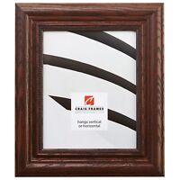 """Craig Frames Traditional Ornate, 2.2"""" Dark Walnut Brown Hardwood Picture Frame"""