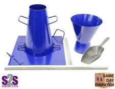 Slump Cone Test Set ~ Cone, Plate, Funnel, Tamping Rod, Ruler & Scoop ~ UK STOCK