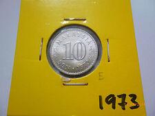 E: Malaysia 10 sen coin 1973 - UNC