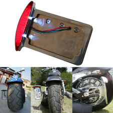 Chrome Mount LED License Plate Tail Light Bracket For Motorcycle Harley Chopper