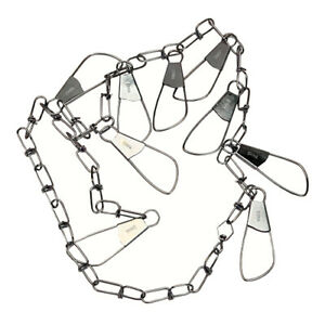 Eagle Claw Invincible Chain Stringer 46 In 9 Snap Silver 1 Piece 04300-005