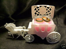 PINK Wedding RING Bearer Pillow Box Carriage Coach Fairytale