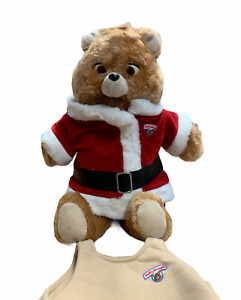 Vintage 1985 Teddy Ruxpin Worlds of Wonder Bear Christmas & Classic Outfits