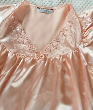 Vintage Night Dress Night Gown Size 10-12 Salmon/Coral Colour