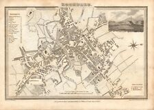 1824 ANTIQUE MAP-TOWN PLAN - ROCHDALE, LANCASHIRE, W SWIRE