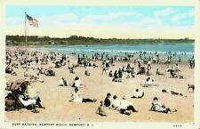 New listing Surf Bathing Newport Beach RI Rhode Island Bathers Swimmers 1920's Postcard