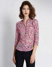 Per Una Women's Semi Fitted Floral Hip Length Tops & Shirts