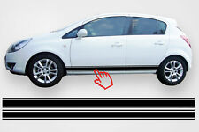 Opel Corsa Seitenstreifen Doppelstreifen Seitenaufkleber Aufkleber für B/C/D/E