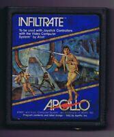 ORIGINAL Vintage TESTED 1981 Atari 2600 Infiltrate Game Cartridge