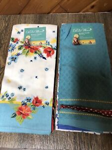 2 Sets Pioneer Woman Spring Bouquet And Mini Floral Towels Bundle New