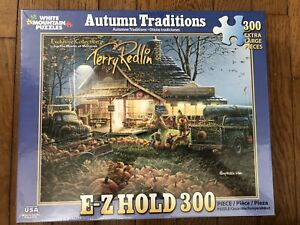 White Mountain Puzzles Autumn Traditions by Terry Redlin 300 Piece Fall Farm NEW