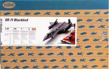1/48 Testors #7584 SR-71 BLACKBIRD Plane Kit Sealed Bags NEW FREE SHIP!!!!!!!!!!