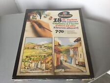 Vintage 70s# RARE Painting  View MB CraftMaster HILLSIDE VILLAGE#FACTORY SEALED