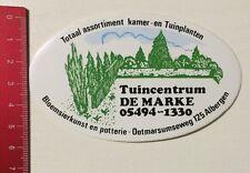Aufkleber/Sticker: Tuincentrum DE MARKE - Bloemsierkunst En Potterie (1703165)