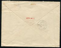 ORANGE RIVER COLONY (21823) 2nd M.I flap/Harrismith Army cancel/cover