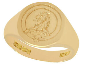 Gent's Vintage 18k Yellow Gold Signet Ring 1966