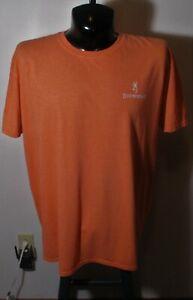 Men's BROWNING Orange Short Sleeve T-Shirt Size 2XL