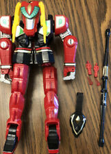 1994 Bandai Power Rangers Red Dragon Thunderzord w/ Gems & Micro Figure *DAMAGED