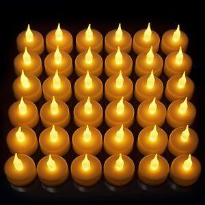 LED Candles, Lasts 2X Longer, Realistic Tea Lights Candles, LED Tealight Candle