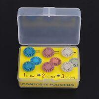 6Pcs/Kit Dental Lab Brush Burs Resin Disc Kit Composite Polishing Spiral Flex