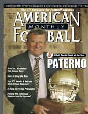 American Football Monthly Magazine February 2006 Joe Paterno Penn State