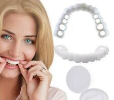 Snap On Bottom False Teeth Lower Upper Dental Veneers Dentures Fake Tooth Smile.