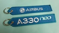 ONE Embroidery Keychain A 330 NEO Airbus Remove Before Flight Aviation Airline