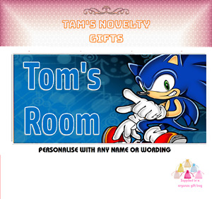 sonic the hedgehog personalised door plaque perfect gift gamer game