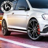 Satz Original VW Golf GTI Clubsport Folienschriftzug 3-Türer li + re - schwarz