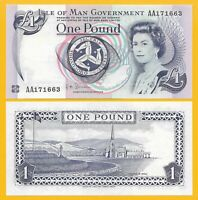 Isle of Man 1 Pound p-40c 2009 UNC Banknote