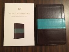 ESV Personal Size Reference Bible - $29.99 Retail - Dark Brown / Teal Trutone