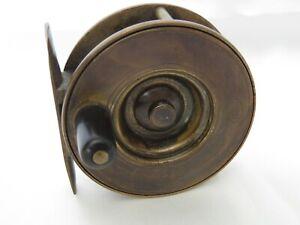 "Scarce Struan Patent 2 1/2""  brass reel constant check"