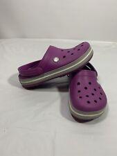 Crocs Crocband Women's Clog purple and gray Men's 5 Women 7