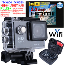 Ultra HD 4K 1080p WIFI Waterproof Sports Action Video Camera Go Pro Fit Mount