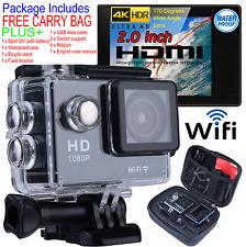 Ultra HD 4K 1080p WIFI Waterproof Sports Action Video Camera Go Pro Fit Mount