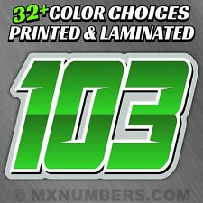 Mx Number Plate Decals Sticker Sliced Style Race Atv Sx Dirt Bike Kart Yz Kart