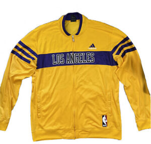 Adidas Los Angeles Lakers NBA Warmup Front Zip Track Jacket Men's Size 2XL