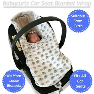 Babycurls Baby Car Seat Fitting Blanket Travel Wrap 2 Sided For Newborn Babies