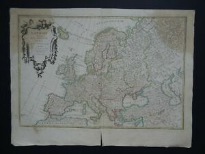 1762 JANVIER Atlas map  EUROPE - L'Europe