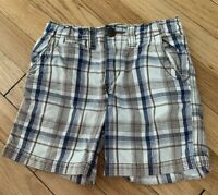 Toddler Blue/Brown THE CHILDREN'S PLACE Plaid Shorts w/ Pockets - Size 3T
